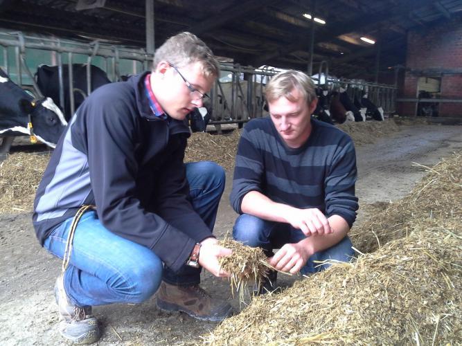Fachberater Tober mit Landwirt Schweckhorst
